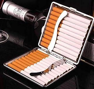 علبة السجائر العصرية/ مجموعة التدخين مصنوعة من الومنيوم بلون اسود