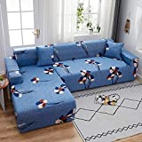 PPMP Funda de sofá elástica elástica, Utilizada para la Funda de sofá de Spandex de la Sala de Estar, Funda de sofá, Toalla de sofá elástica, Forma de L, Funda de sofá A5 de 1 Plaza