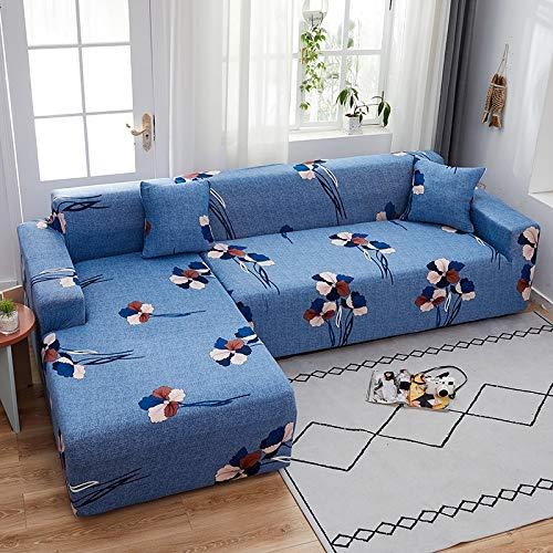 PPMP Funda de sofá elástica elástica, Utilizada para la Funda de sofá de Spandex de la Sala de Estar, Funda de sofá, Toalla de sofá elástica, Forma de L, Funda de sofá A5 de 2 plazas