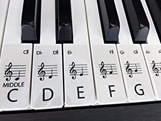 CLEAR STANDARD piano/keyboard stickers for up to 88 keys (61