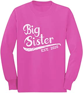 Big Sister Est 2020 - Sibling Gift Idea Toddler/Kids Long Sleeve T-Shirt