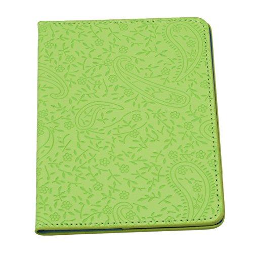 Rurah Cute Passport Holder Case Lavender Leather Passport Cover Holder Case Travel Card Wallet,Green