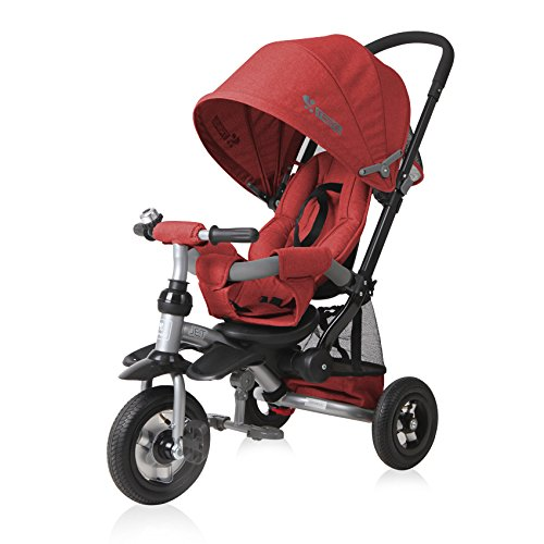 Lorelli 10050360007 driewieler schaalbare Jet Air (ROUES GONFLABLES) rood