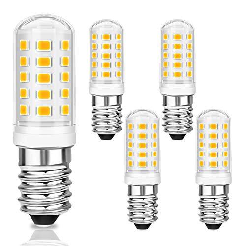 KINGSO E14 LED Warmweiss 5w 500lm e14 led dunstabzugshaube Lampe Ersatz für40WHalogenlampen LED Leuchtmittel E14 für Kühlschrank, Nähmaschine, Dunstabzugshaube 230V 3000K Nicht Dimmbar
