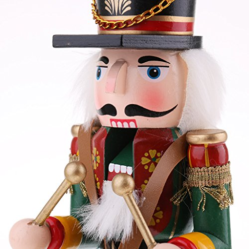 Sharplace 30cm Nußknacker Nussknacker Holzpuppe Figur Weihnachten Dekor Soldaten Spielzeug - # 6