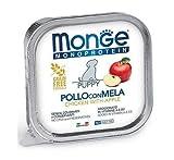 Monge Monoproteico Pollo con Mela Puppy Alimento Umido per Cani 12x150gr