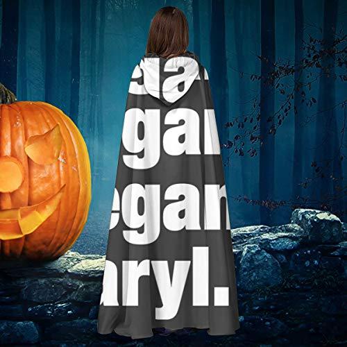 OJIPASD - Disfraz de Bruja con Capucha, diseño de Daryl Walking Dead de Negan Negan