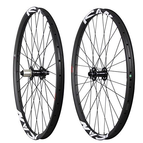 ICAN 29er All Mountain Bike Carbon Wheelset Clincher Tubeless Ready Rim Novatec Hub Boost Front 110x15mm Rear 148x12mm