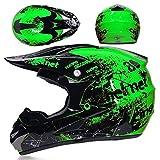 ZZSG fullface Helm Off Road Helm Jet Helm Moto Helmets Scooter Helm Fahrradhelm Roller Integralhelm All Terrain Motocross Downhill Helm Motorradhelm Motocross mit Handschuhe Maske Brille,XL