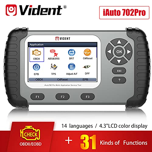 VIDENT iAuto702 Pro Automotive OBDII ABS SRS Airbag Scan Tool Support Special Service DPF EPB Oil Light Reset TPS BRT Injector Coding Diagnostic Code Reader