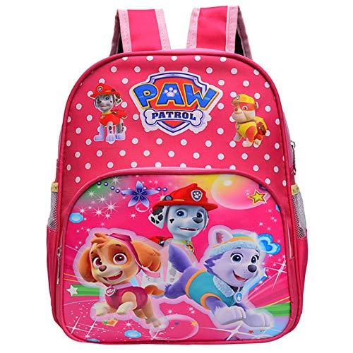 Paw Patrol Kinderrucksack - WENTS Paw Patrol Rucksack Kinderrucksack mit Taschen Chase Marshall Rubble für Mädchen Rucksack