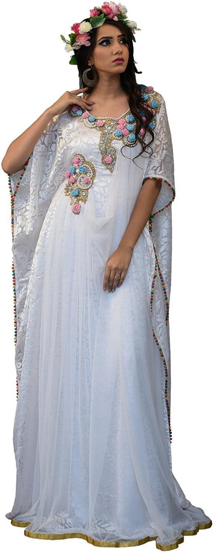 Kolkozy Fashion Dubai Maxi Kaftan Dress White