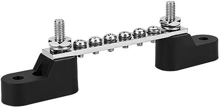 FLAMEER Bus Bar Elektrischer Sammelschiene 12V 6 Polig Elektrischer Anschluss Doppelanschlusskasten Bolzens/ätze 6P