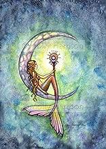 Mermaid Moon Watercolor Fine Art Print by Molly Harrison