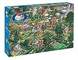 Gibsons Games- I Love Los Jardines Puzle, Multicolor (G811)