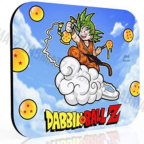 8x10 inch Dabbin Ball Z - Goku Saiyan - Mousepad | Dabmat | Coaster for Glass | Dabmatz - 420 Friendly, Stoner Gift, Coaster
