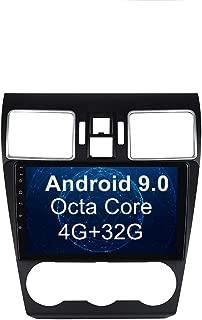 SYGAV Car Radio for Subaru Forester WRX STI XV Crosstrek Impreza Android 9.0 Pie GPS Navigation 9 Inch Touch Screen Head Unit