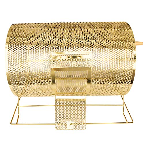 YH Poker Yuanhe Deluxe Large Size Brass Plated Raffle Drawing Ticket Drum Holds 10000 Drawing Tickets Spinning Lottery