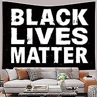ブラック・ライヴズ・マタータペストリールーム屋内屋外バナーアート壁掛けタペストリーリビングルームホーム寮の装飾150cmX100cm