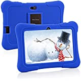 Pritom 7 inch Kids Tablet, Quad Core Android 10, 16GB ROM, WiFi, Bluetooth, Dual Camera, Educationl, Games, Parental Control, Kids Software Pre-Installed with Kids-Tablet Case(Blue)
