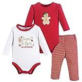 Hudson Baby - Conjunto de Body y pantalón Unisex de algodón, Especias de Azúcar, 9-12 Meses