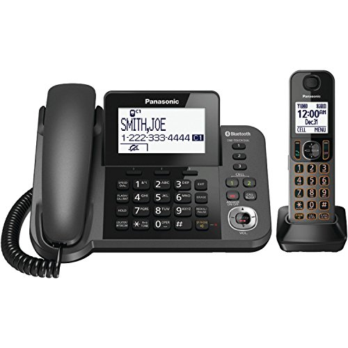 Panasonic KXTGF380M Dect 1-Handset Landline Telephone (Renewed)