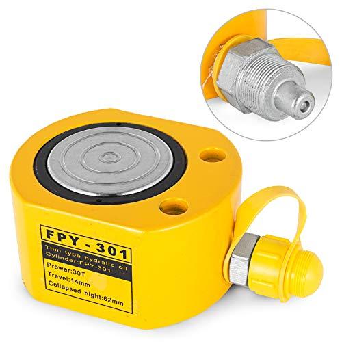 Mophorn Hydraulikzylinder Hydraulikzylinder Ultra-Thin 30T Zylinder-Hubzylinder Einzelhubheber Hydraulikflasche (30T)