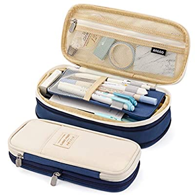 EASTHILL Big Capacity Pencil Pen Case Pouch Box Organizer Large Storage for Bullet Journal