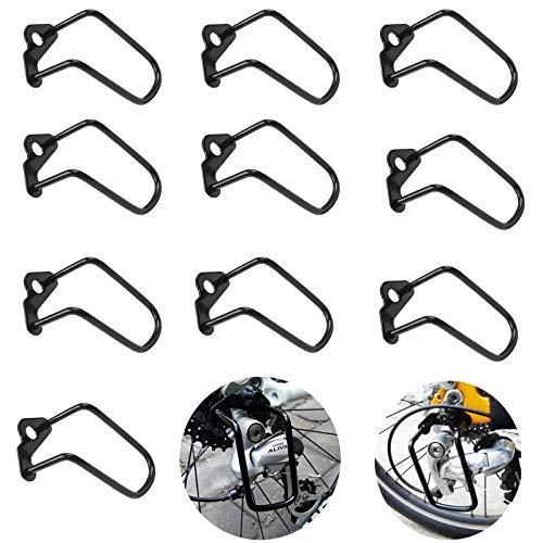 Cambio Bicicleta Protector,10 Piezas Protector de Cambio Trasero de Bicicleta Desviador de la Bicicleta Protector,para Bicicletas de Montaña y de Carreras o Bicicletas Plegables Accesorios (Negro)