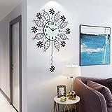 BDwantan Reloj de pared minimalista europeo para sala de estar, reloj silencioso, creativo para el hogar, diseño de artes decorativas, tamaño 72 cm x 56 cm
