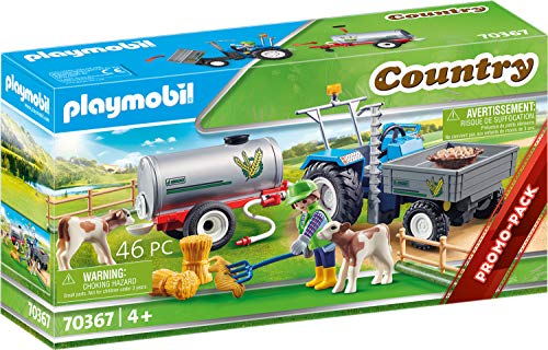 PLAYMOBIL Country 70367 Tractor de Carga con Tanque, A Parti