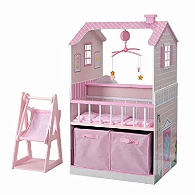 "Teamson Kids All in One Baby Doll Nursery Station for Dolls Nursery Center, 18"" by Optimum Fulfillment - Toys"