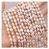 Joyas para mujeres Perlas de agua dulce naturales perlas de forma irregular aislamiento de aislamiento sueltos para la fabricación de joyas BRICOLAJE Accesorios de pulsera de collar al menos comprar c