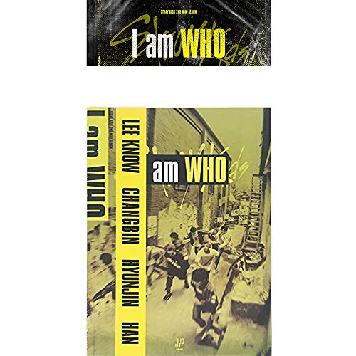 Stray Kids I Am Who (Who Version) 2nd Mini Album CD+Poster+Photobook+3 QR Photocards+Lyrics Poster+Gift (Extra 4 Photocards and 1 Double-Sided Photocard Set)