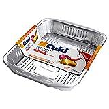 Cuki Vaschette Alluminio Ultra Forza Rettangolari, Confezione da 2 Pezzi