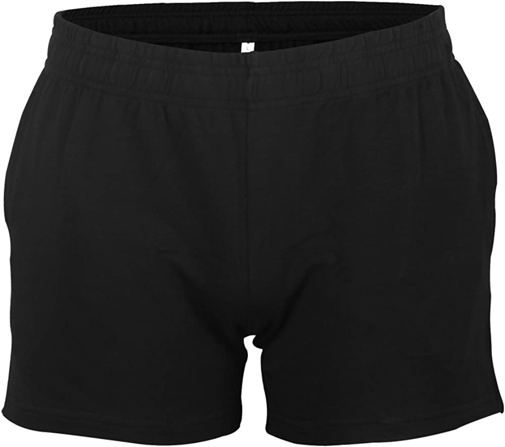 Muscle Alive Mens Gym Bodybuilding Workout Sports Shorts Fitness 3 Shorts Cotton