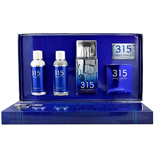 Carlo Corinto 315 de Carlo Corinto para Caballero 100 ml Eau De Toilette Spray + 150 gr. Soap + 120 ml Shower Gel + 120 ml After Shave