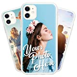 Personalized Photo Custom Phone Case Customized Picture Design Your Own Cover Compatible with iPhone 6 6s 7 8 Plus SE 2020 X XS XR 11 12 Mini Pro Max Samsung Galaxy S9 S10 S20 S21