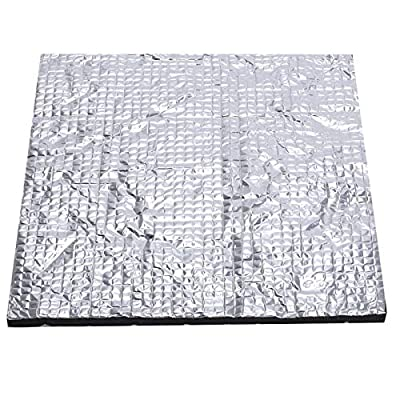MUTUBEN 3D Printer Heated Bed Foil 3D Printer Heated Bed Insulation Thermal Self-Adhesive Insulation Cotton Mat Lightweight Foam Foil Hotbed Thermal Pad for 3D Printer Heatbed Parts 220mmx220mm