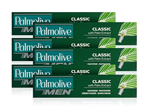 Palmolive Classic Schaum Shave Cream Rasiercreme mit Palm Extrakt 100ml (6Stück)