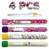 BABYLOVIT | Notfallarmband Set für Kinder | 4 Stück + Stift | Sicherheitsarmband | Wasserfest | Wiederverwendbar | SOS Armband | Mädchen