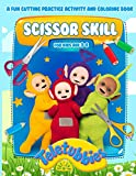 Teletubbies Scissor Skills: Awesome Illustrations Cutting For Beginner Activity Workbook Teletubbies (Gifted Adult Colouring Pages Fun)