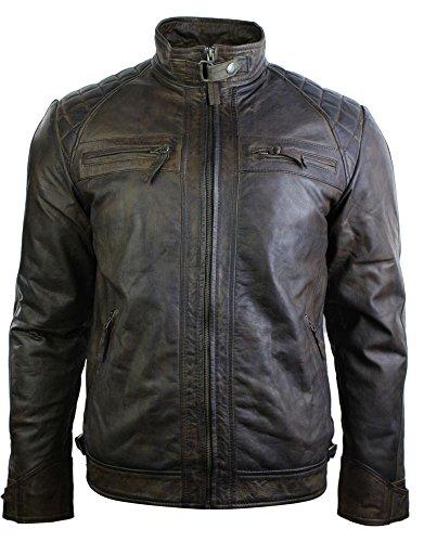 Aviatrix Herrenjacke 100% Echtleder Retro Vintage Biker Jacke Weiches Leder 3XL