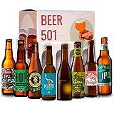 Cervezas artesanales IPA BEER 501 : La virgen, Mahou, Zeta, La Sagra, Madri, Espiga, Alhambra, Shipyard I Ideas para regalar I Cervezas para degustación.