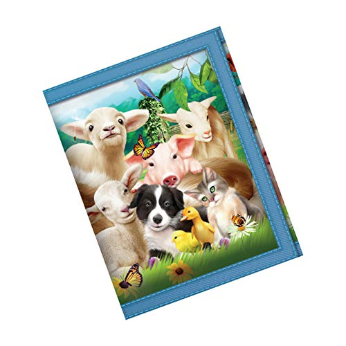 3D LiveLife Wallets - Baby Farm Animals. Lenticular 3D artwork brought to you by Deluxebase  licensed from renowned artist Michael Searle.