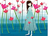 Colour Talk DIY Oil Painting, Paint by Number Kits for Kids - Petal Girl 20X30cm.