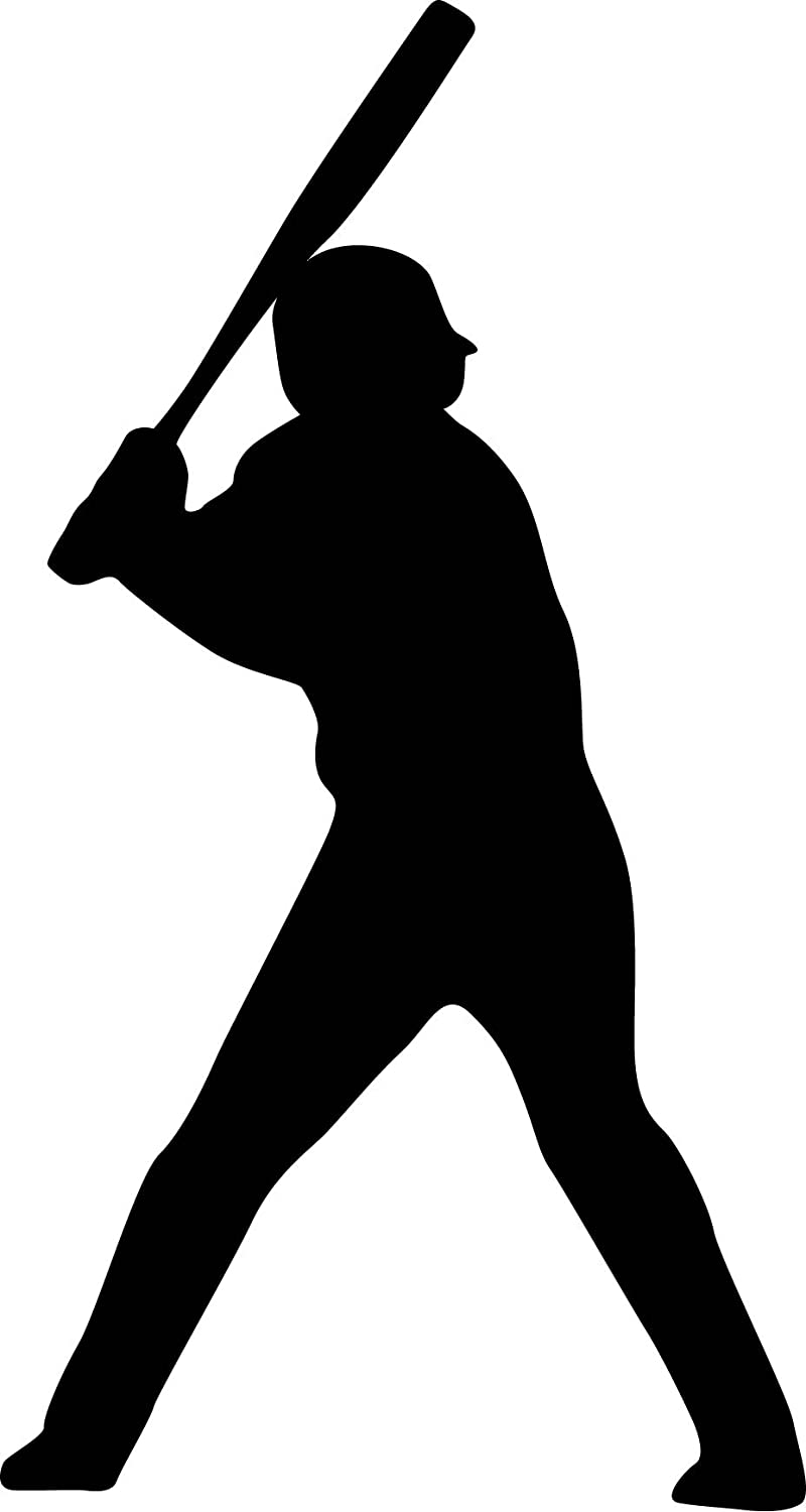 Amazon Com Sports Silhouette Wall Decals Baseball Player Batting Stance Righty Silhouette 12 Inch Removable Graphic Home Kitchen