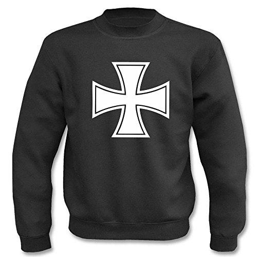 Textilhandel Hering Pullover - Bundeswehr Eisernes Kreuz (Schwarz, 4XL)
