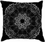 Ahdyr Diseño Floral Mandala Adorno The Arts Vintage Algodón Lino Hogar Decorativo Funda de Almohada Funda de cojín para sofá Sofá 45x45 cm