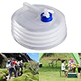 SWANTIS Portable Food Grade Collapsible Water Container Premium LDPE-4 Material Space-Saving Folding Water Bottles for Outdoor & Survival KIT (4Gals/15L)